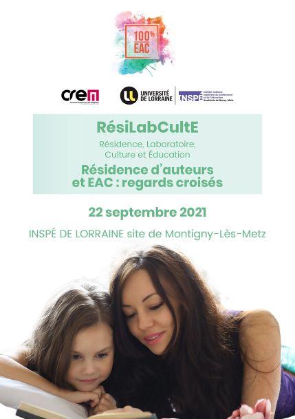 RésiLabCulte : 100% EAC le 22/09 à l'INSPE Lorraine