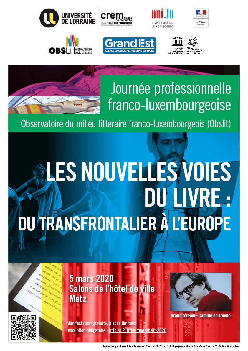Journée professionnelle Les nouvelles voies du livre : du transfrontalier à l'Europe