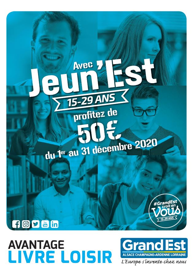 Jeun'Est : 50 € offerts par la Région Grand Est