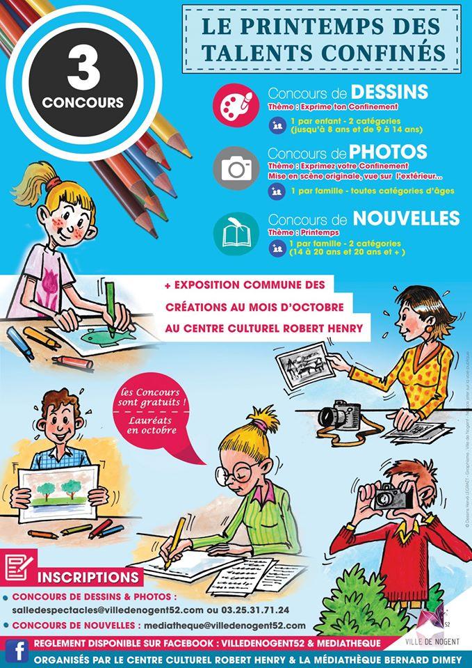 Concours à la médiathèque Bernard Dimey de Nogent  : à vos talents !