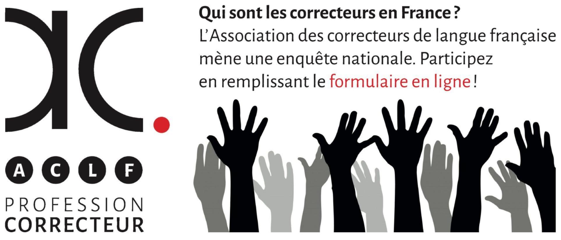 Enquête nationale « Profession : correcteur » de l'Association des correcteurs de langue française (ACLF)