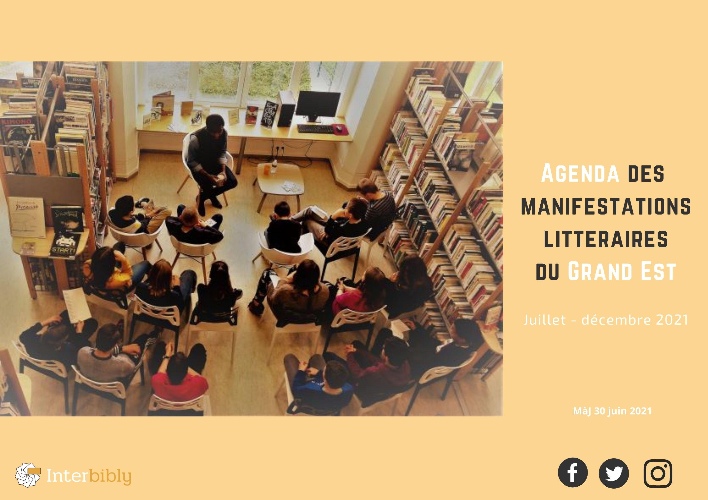 Manifestations littéraires en Grand Est : Découvrez l'agenda du 2nd semestre 2021 !
