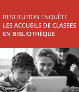 Lecture jeunesse / Conférence de presse le 24/9 - Restitution enquête « Les accueils de classes en bibliothèque »
