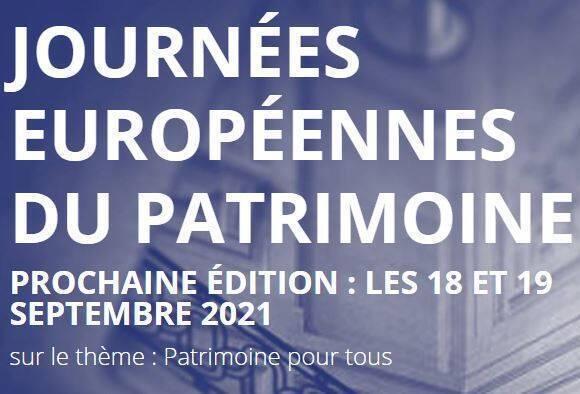 Journées européennes du patrimoine 2021 : les inscriptions sont ouvertes