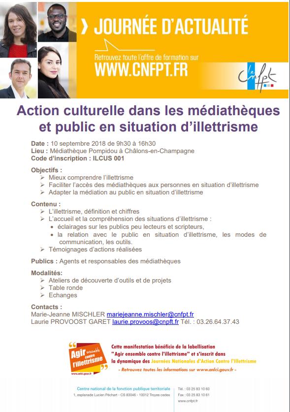 Action culturelle en médiathèque et public en situation d'illettrisme