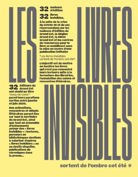 Livres invisibles_Rencontres éditeurs en bibliothèques