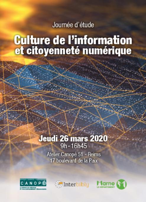 Journée d'étude : Culture de l'information et citoyenneté numérique