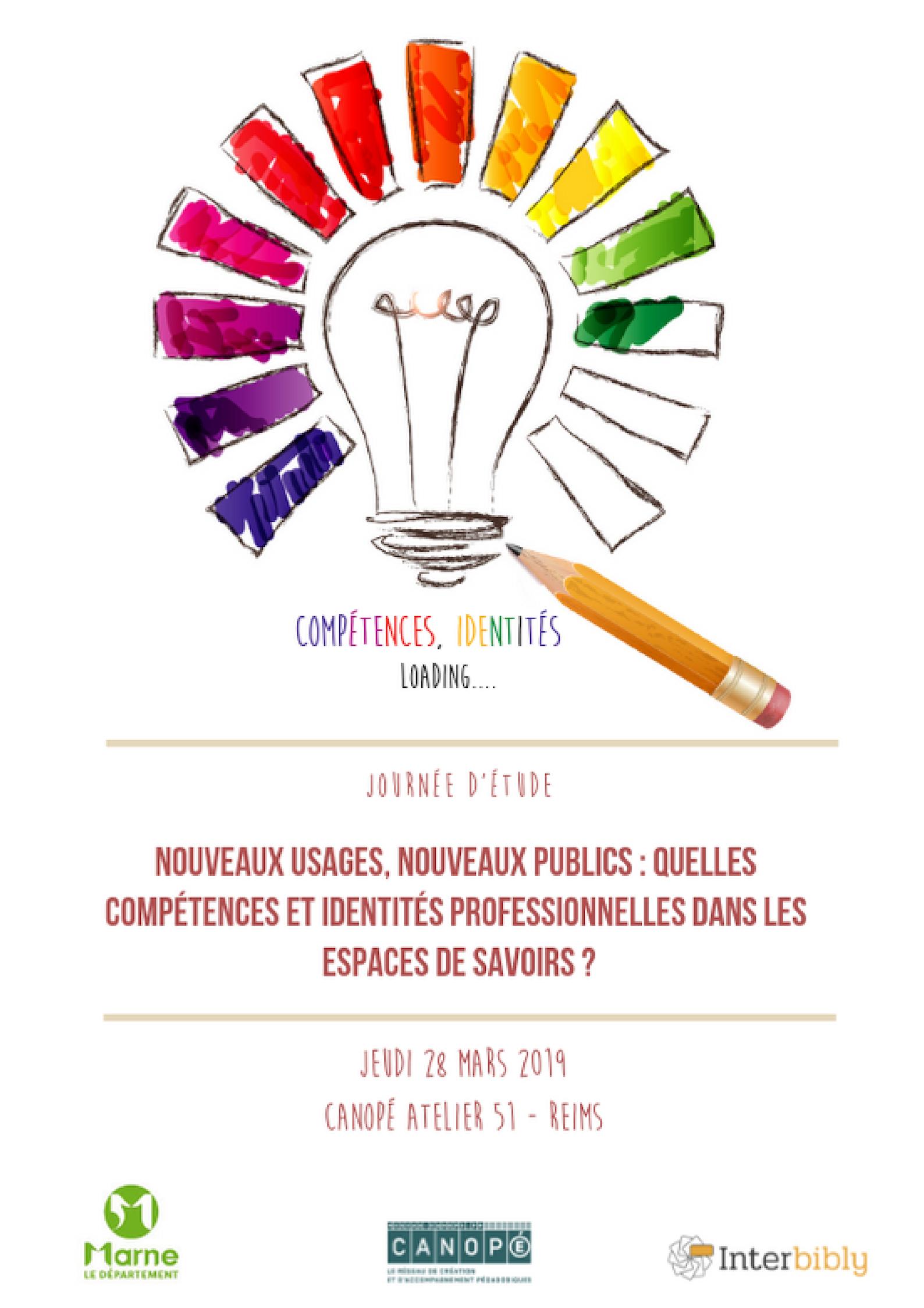 Journée d'étude : Nouveaux usages, nouveaux publics :  quelles compétences et identités professionnelles dans les espaces de savoirs ?