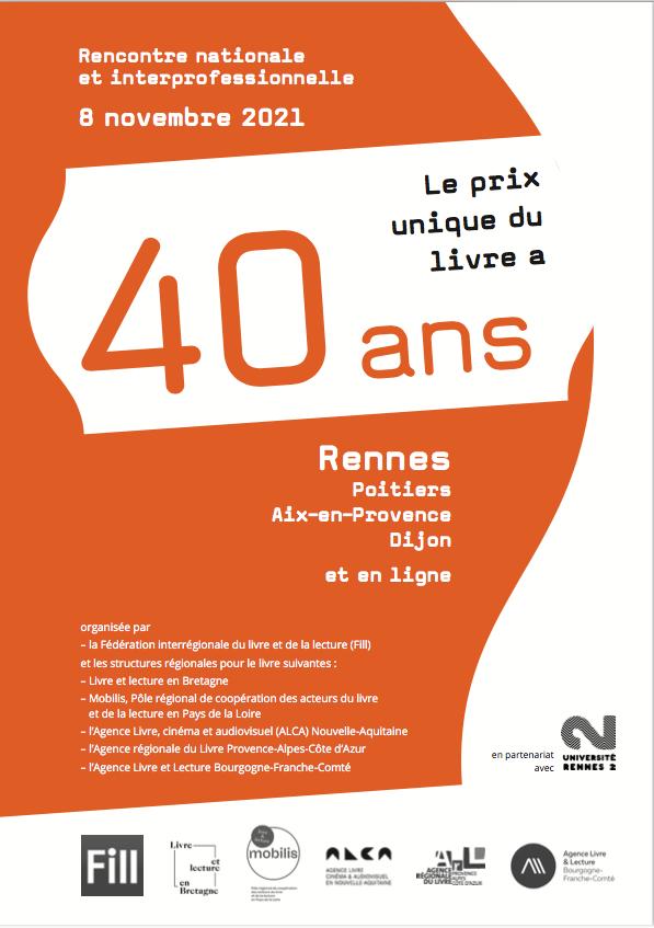 08/11_Rencontre nationale et interprofessionnelle  Le prix unique du livre a 40 ans !
