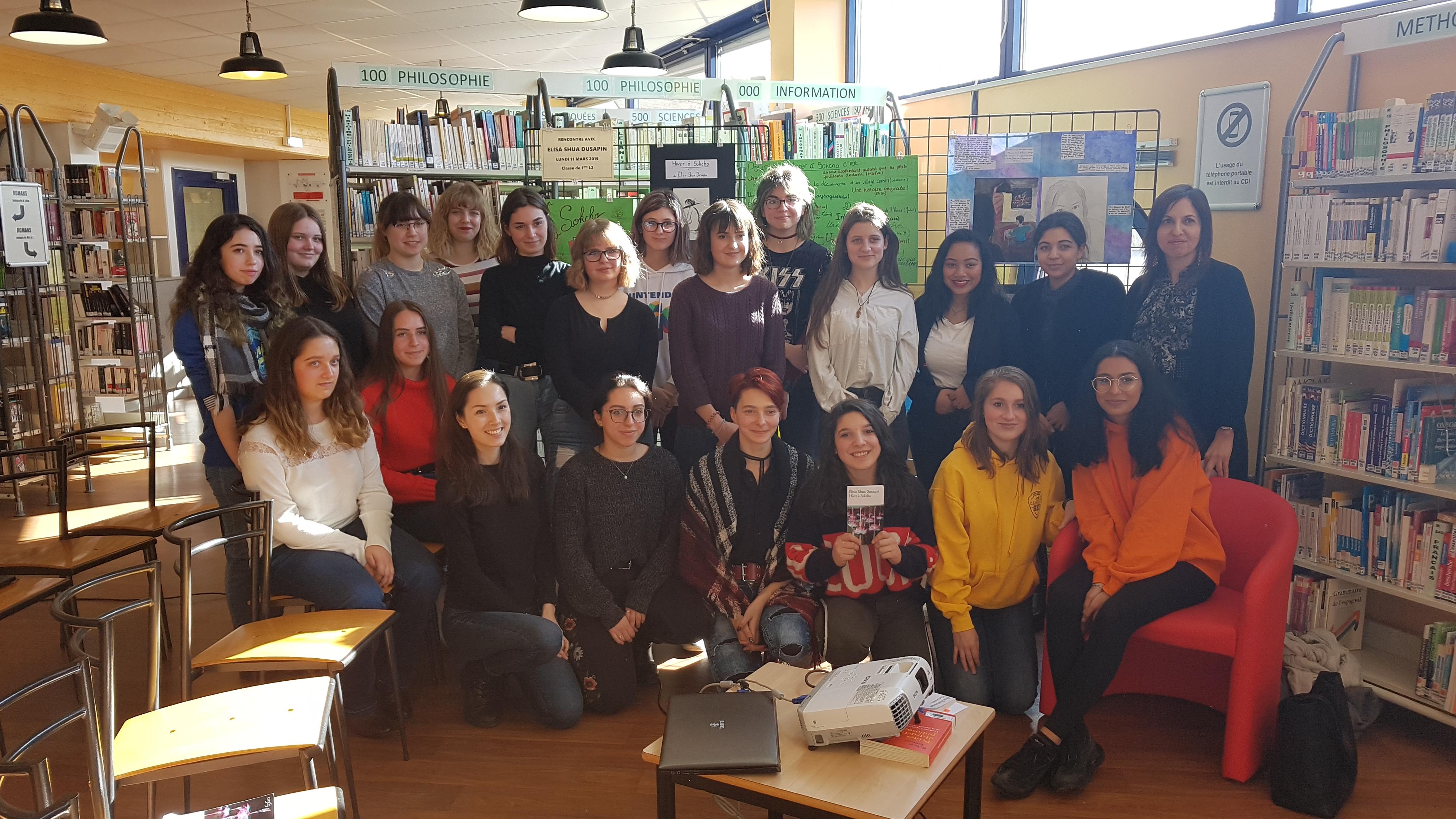 Elisa Shua Dusapin au lycée Camille-Sée à Colmar