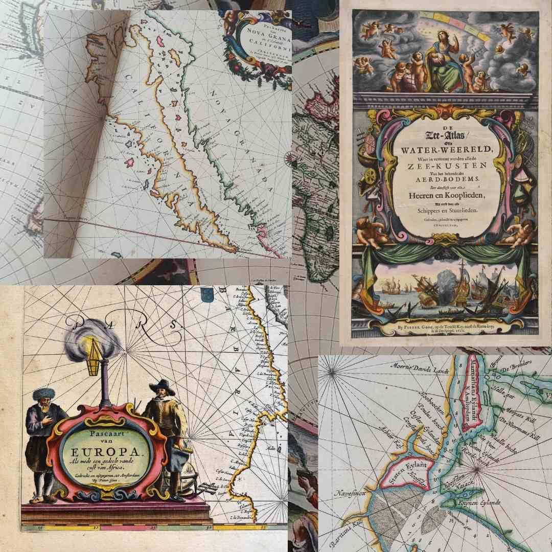 Splendeur de l'âge d'or de la cartographie hollandaise