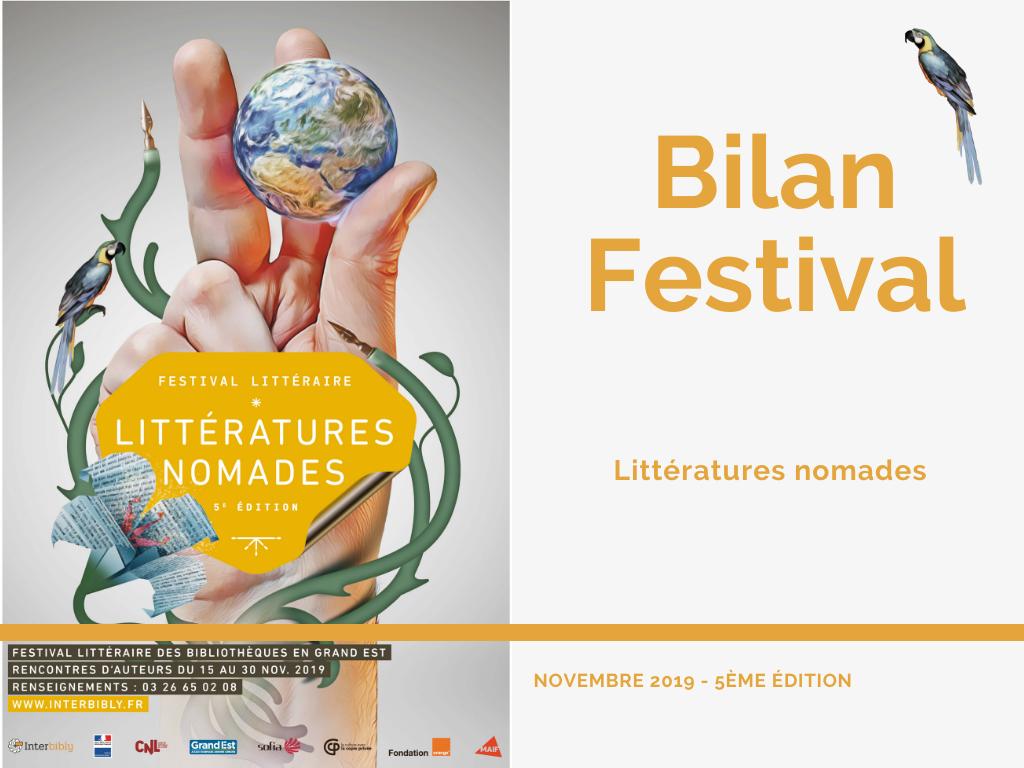 Bilan du festival littéraire 2019