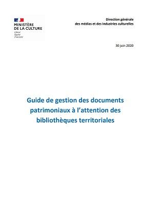Guide de gestion des documents patrimoniaux en bibliothèque territoriale